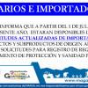 Solicitudes Actualizadas para Importación de Productos y Subproductos de Origen Animal