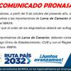 Comunicado Pronasa