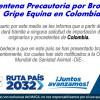 Cuarentena Precautoria por Brotes de Gripe Equina en Colombia