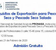 Capacitación sobre Requisitos de Exportación para Pescado Seco y Pescado Seco Salado