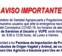 Horarios de Atención Temporal en Ventanilla de Servicios ante COVID-19