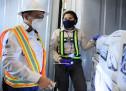 Verificación en las rampas de inspección ubicadas en Puerto Quetzal